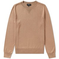A.P.C. Bright Crew Sweat Brown