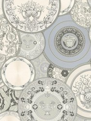 Versace Les Etoiles De La Mer 2 Wallpaper Grey White