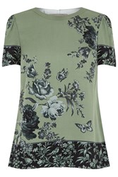 Oasis Chintz Patched Tee Multi Coloured Multi Coloured
