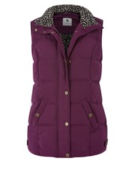 Dash Peached Gilet Plum Dark Purple