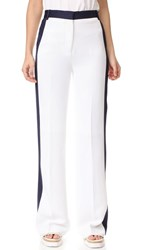 Victoria Beckham Relaxed Tux Pants White Navy