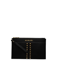 Michael Kors Astor Large Leather Clutch Black