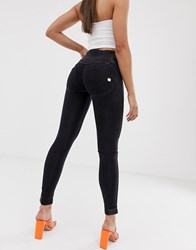 Freddy Wr.Up High Waist Skinny Jean With Double Zip Detail Black