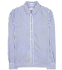 Robert Friedman Clelias Linen Cotton And Silk Shirt Blue