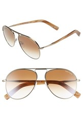 Women's Tom Ford 'Cody' 56Mm Aviator Sunglasses Gold Gradient Brown Regular Retail Price 435.00