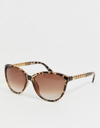 Oasis Mimi Soft Cateye Sunglasses Brown