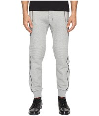 The Kooples Sport Fleece Sweatpants With Zippers Grey Men's Casual Pants Gray