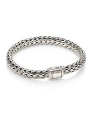 John Hardy Classic Chain Medium Hammered Sterling Silver Chain Bracelet