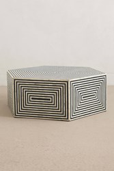 Anthropologie Hexa Inlay Coffee Table Black And White