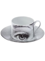 Fornasetti Cup And Saucer White