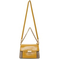 Givenchy Yellow And Taupe Small Gv3 Bag 707 Curry