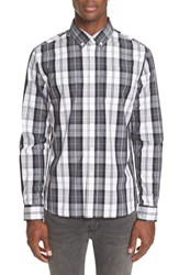 Saturdays Surf Nyc Men's Plaid Sport Shirt White