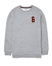 Only And Sons Applique Crew Neck Grey