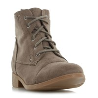 Head Over Heels Paola Lace Up Desert Boots Taupe