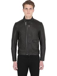Ettore Bugatti Collection Quilted Leather Moto Jacket