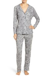 Love Grace Women's 'Cassie' Animal Print Flannel Pajamas