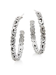 Lois Hill Sterling Silver Scroll Hoop Earrings