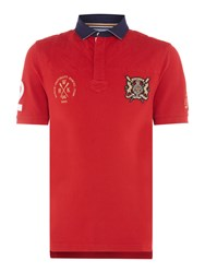 Howick Men's Medford Rowing Short Sleeve Polo Shirt Red