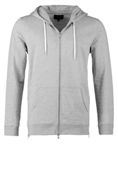 New Look Tracksuit Top Grey Marl Mottled Grey