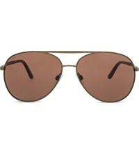 Giorgio Armani Ar6030 Aviator Sunglasses Brown