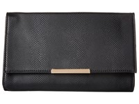 Jessica Mcclintock Nora Straw Clutch Black Clutch Handbags