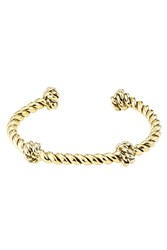 Aurelie Bidermann Gold Plated Twisted Knot Cuff Gold