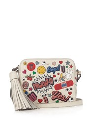 Anya Hindmarch All Over Stickers Leather Cross Body Bag White Multi
