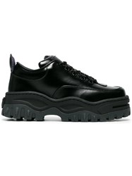 Eytys Calf Leather Angel Lift Sneakers Black