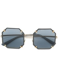 Dolce And Gabbana Eyewear Hexagonal Metal Sunglasses Grey