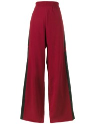 Golden Goose Deluxe Brand Star Stripe Baggy Track Pants Women Polyester S Red