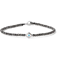 Luis Morais Hematite Bead And White Gold Bracelet Metallic