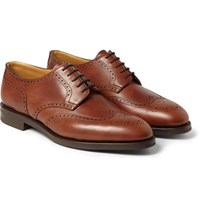 John Lobb Darby Ii Leather Wingtip Brogues Brown