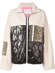 Sandy Liang Shearling Contrast Jacket Black