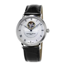 Frederique Constant Classics Automatic Heart Beat Watch Unisex Silver