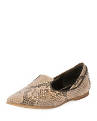 Dries Van Noten Pointed Toe Slip On Loafer Flat Camel