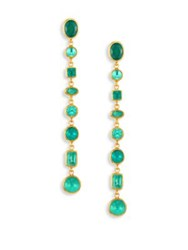 Gurhan Amulet Hue Emerald And 24K Yellow Gold Drop Earrings
