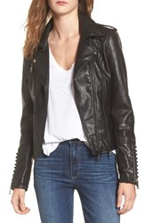 Vigoss Women's Studded Faux Leather Moto Jacket Black