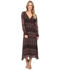 Sanctuary Fleur Midi Dress Dark Autumn Women's Dress Brown