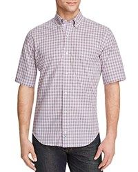 Tailorbyrd Trillium Check Classic Fit Short Sleeve Shirt Compare At 89.50 Purple