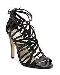 Dv Dolce Vita Open Toe Caged Ghillie Lace Up Sandals Tessah High Heel Black