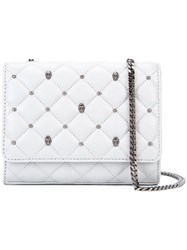 Thomas Wylde Studded Quilted Crossbody Women Lamb Nubuck Leather One Size Grey