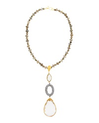 Azaara Mixed Stone Long Pendant Necklace