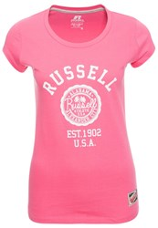 Russell Athletic Print Tshirt Pink Rose