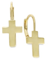 Lily Nily Children's Cross Drop Earrings In 18K Gold Over Sterling Silver