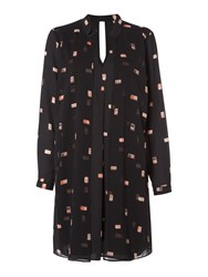 Biba Domino Print Double Layer Dress Black