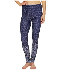 Lole Sierra Leggings Dark Spectrum Floral Bliss Women's Casual Pants Blue