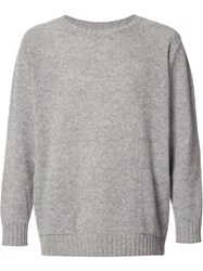 The Elder Statesman Crew Neck Jumper Grey
