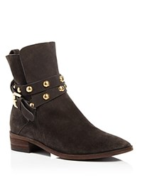 See By Chloe Janis Studded Strap Flat Booties Black