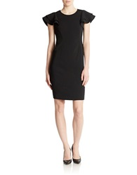 Anne Klein Cap Sleeved Sheath Dress Black