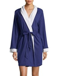 Karen Neuburger Polka Dot Robe Navy Dot